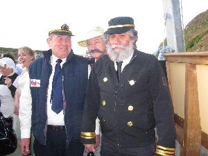 Skipper Ted O'Driscoll with Capt.Steve Wing